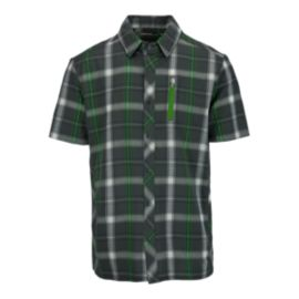 Icebreaker Compass Men's Short Sleeve Plaid Shirt