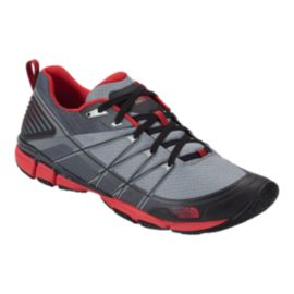 The North Face Men's LiteWave Ampere Trainer Hiking Shoes - Monument Grey