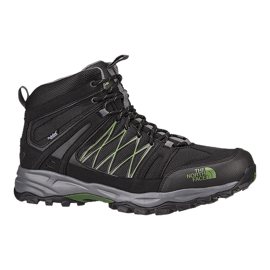 0bb88a496f The North Face Men s Alteo Mid Waterproof Day Hiking Boots - Black Green