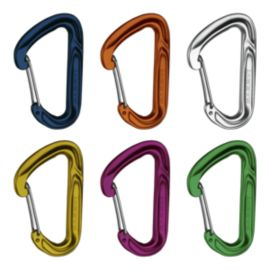 Mammut Wall Light Wiregate Carabiner - Six-pack
