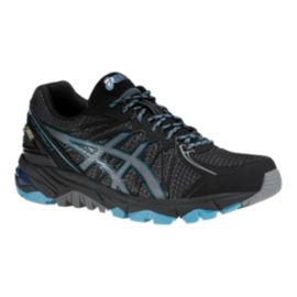 ASICS Women's Gel Fuji Trabuco 3 GTX Trail Running Shoes - Black/Grey/Blue