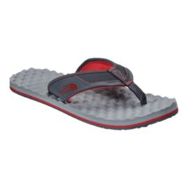 The North Face Men's Base Camp Plus Flip Flops - Grey/Red