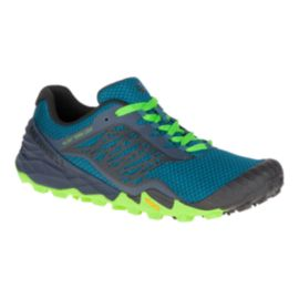 Merrell Men's All Out Terra Trail Running Shoes - Blue/Black/Green