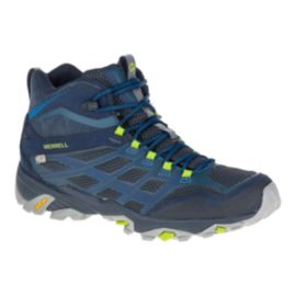 Merrell Men's Moab FST Mid Waterproof Day Hiking Boots - Navy