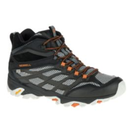 Merrell Men's Moab FST Mid Waterproof Day Hiking Boots - Black