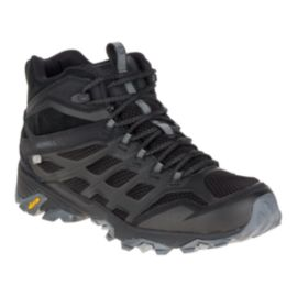 Merrell Men's Moab FST Mid Waterproof Day Hiking Boots - Noire