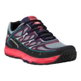 TOPO Women's MT-2 Trail Running Shoes - Grey/Purple/Red