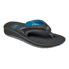 Reef Men's Flex Flip Flops - Black/Grey/Blue