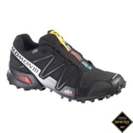 Salomon Men's SpeedCross 3 GTX Trail Running Shoes - Black/Silver
