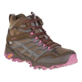 Merrell Women's Moab FST Mid Waterproof Day Hiking Boots - Boulder
