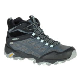 Merrell Women's Moab FST Mid Waterproof Day Hiking Boots - Granite