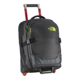 The North Face Overhead 35L Wheeled Luggage - Asphalt Grey/Lantern Green