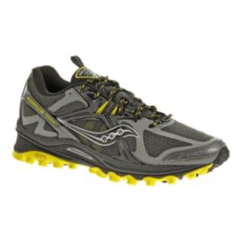 Saucony Men's Xodus 5.0 Trail Running Shoes - Grey/Black/Yellow