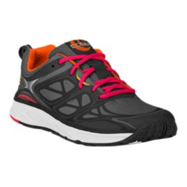 TOPO Women's Fli-Lyte Trail Running Shoes - Dark Grey/Orange/Pink