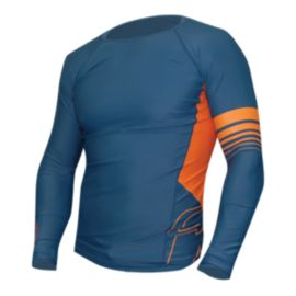 Level 6 Men's Mercury Long Sleeve Rash Guard - Stone Blue