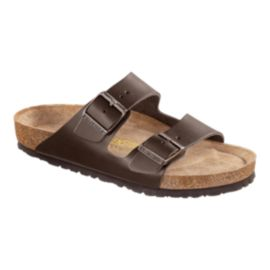 Birkenstock Men's Arizona Soft Leather Sandals - Brown