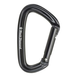 Black Diamond Positron Straight Gate Carabiner - Black