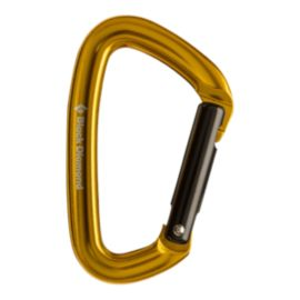 Black Diamond Positron Straight Gate Carabiner - Yellow