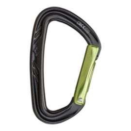 Black Diamond Nitron Straight Gate Carabiner - Black/Envy Green