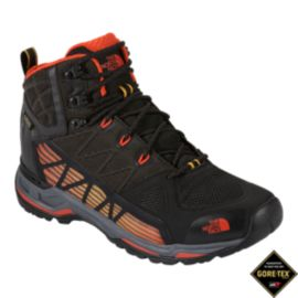 The North Face Men's Ultra GTX Surround Mid Day Hiking Boot - Black/Orange