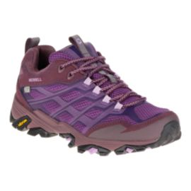 Merrell Women's Moab FST Waterproof Hiking Shoes - Purple/Maroon