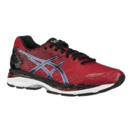 ASICS Men's Gel Nimbus 18 Running Shoes - Red/Black/Silver