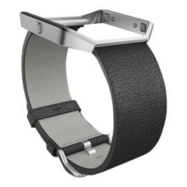 Fitbit Blaze Leather Wristband - Black Large