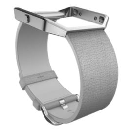 Fitbit Blaze Leather Wristband - Grey Large