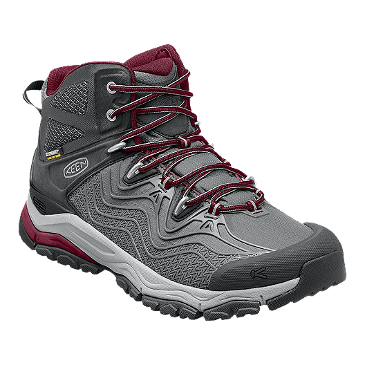 d3d0571f2d9 Keen Women's Aphlex Mid Waterproof Day Hiking Boots - Grey/Red ...