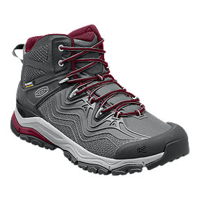 Keen Women's Aphlex Mid Waterproof Day Hiking Boots - Grey/Red