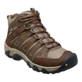 Keen Men's Oakridge Mid Waterproof Day Hiking Boots - Brown/Tan