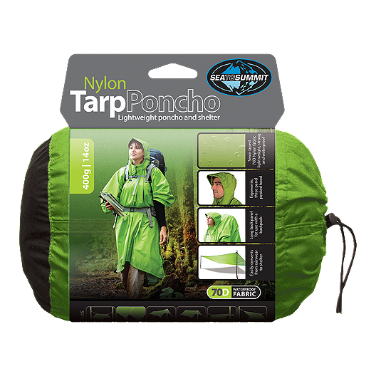0446898d52dd Sea to Summit Nylon Tarp Poncho 70D Waterproof - Apple Green ...