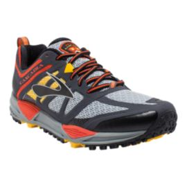 Brooks Men's Cascadia 11 Trail Running Shoes - Grey/Orange/Yellow