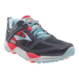 Brooks Women's Cascadia 11 Trail Running Shoes - Dark Grey/Light Blue/Pink