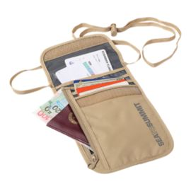 Sea to Summit Travelling Light Neck Wallet - Sand