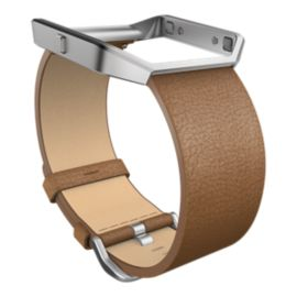 Fitbit Blaze Leather Accessory Band Large - Camel
