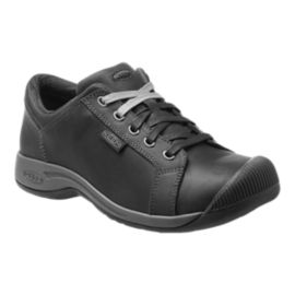 Keen Women's Reisen Lace Full-Grain Leather Casual Shoes - Black