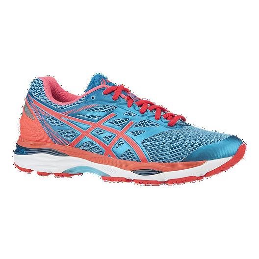 06ed15b4ba ASICS Women's Gel Cumulus 18 Running Shoes - Blue/Coral Orange/White
