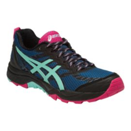 ASICS Women's Gel Fuji Trabuco 5 Trail Running Shoes - Black/Blue/Pink