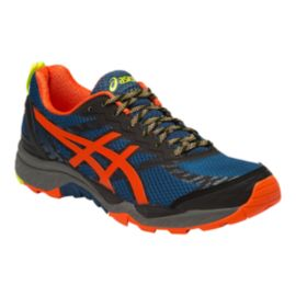 ASICS Men's Gel Fuji Trabuco 5 Trail Running Shoes - Blue/Grey/Orange