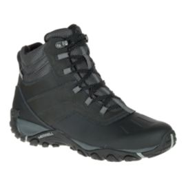 Merrell Men's Atmost Mid Waterproof Winter Boots - Black