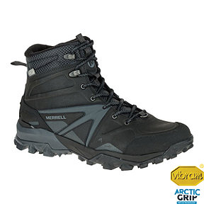 Merrell Men's Capra Glacial Ice+ Mid Waterproof Winter Boots - Black/Grey