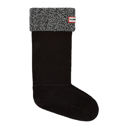 Hunter Women's 6 Stitch Cable Boot Socks - Black/Grey