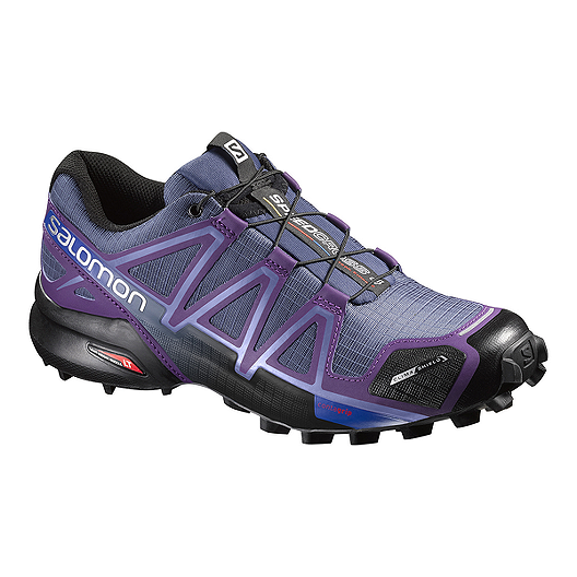 b2e2c88d3f661 Salomon Women s SpeedCross 4 CS Trail Running Shoes - Purple Black ...