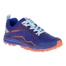 Merrell Women's All Out Crush Trail Running Shoes - Blue/Purple/Orange
