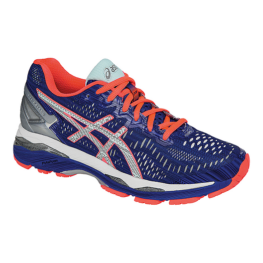 info for ad921 614bd ASICS Women's Gel Kayano 23 LS Running Shoes - Dark Blue/Coral Pink/Silver