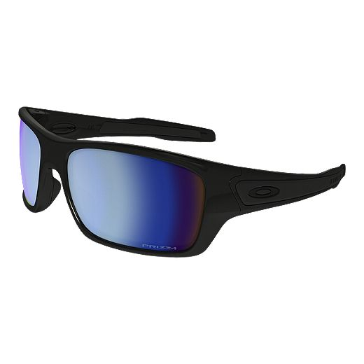 Oakley Turbine Polarized Sunglasses - Polished Black with Prizm Deep Water Lenses