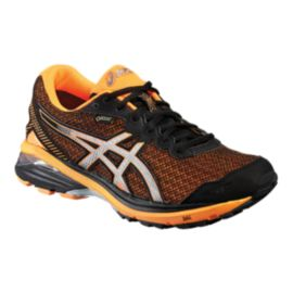 ASICS Men's GT 1000 5 GTX Running Shoes - Black/Silver/Orange