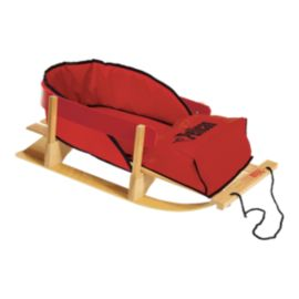 Pelican Wooden Baby Sleigh with Cushion
