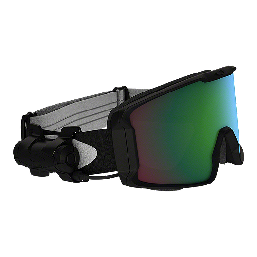 3b8b4489682 Oakley Line Miner Matte Black Snow Goggles with Prizm Inferno Jade Lenses